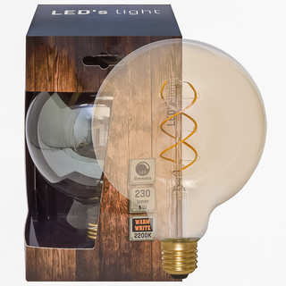 E27 Spiral-LED Globe-95 gold 5W dimmbar