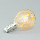 E14 Tropfen LED gold 2W 1700K