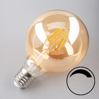 E27 LED Globe 95 gold dimmbar