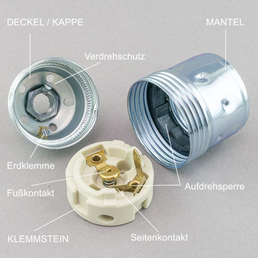 Hilfe wie das Kabel an die E27 Lampenfassung anschließen